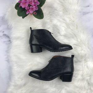 Black leather zip up Nordstrom Hispanitas booties
